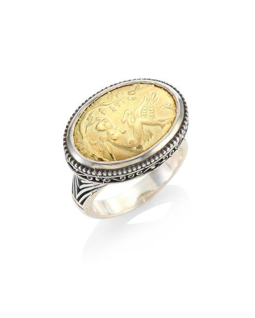 Konstantino | Metallic Gaia Oval Ring | Lyst