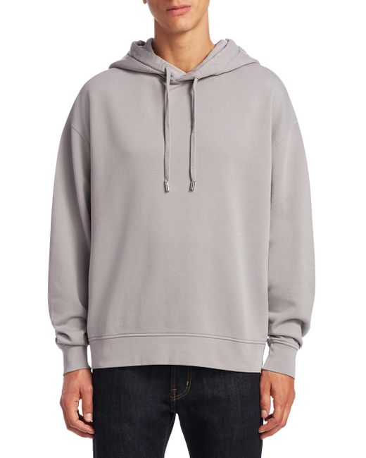 Acne | Gray Yala Cotton Hoodie for Men | Lyst