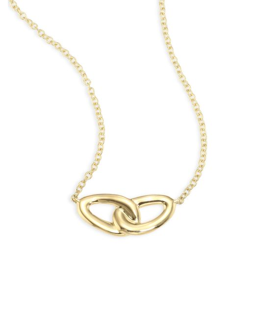 Ippolita   Metallic Cherish 18k Yellow Gold Intertwine Necklace   Lyst