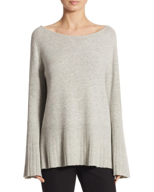 Elizabeth and James | Gray Clarette Boatneck Sweater | Lyst