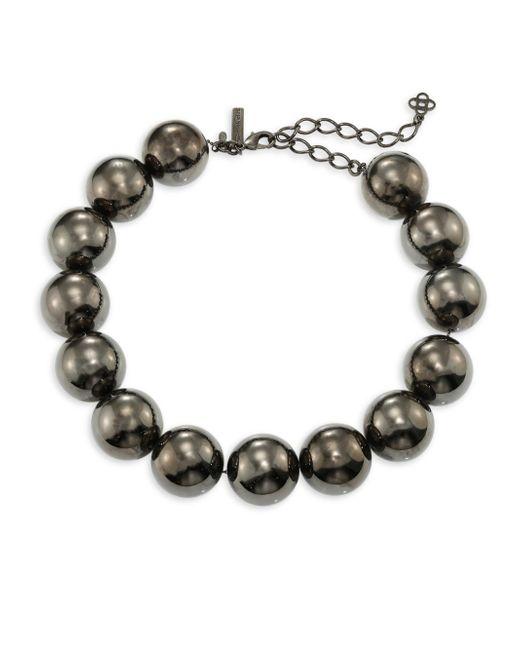 Oscar de la Renta | Metallic Bold Beaded Necklace | Lyst