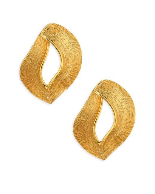 Oscar de la Renta   Metallic Twisted Ribbon Earrings   Lyst
