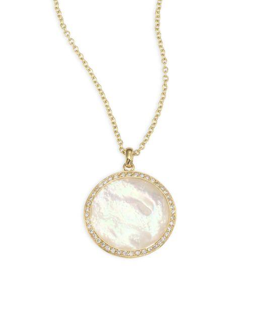 Ippolita   Metallic Lollipop? Diamond & Mother-of-pearl Pendant Necklace   Lyst