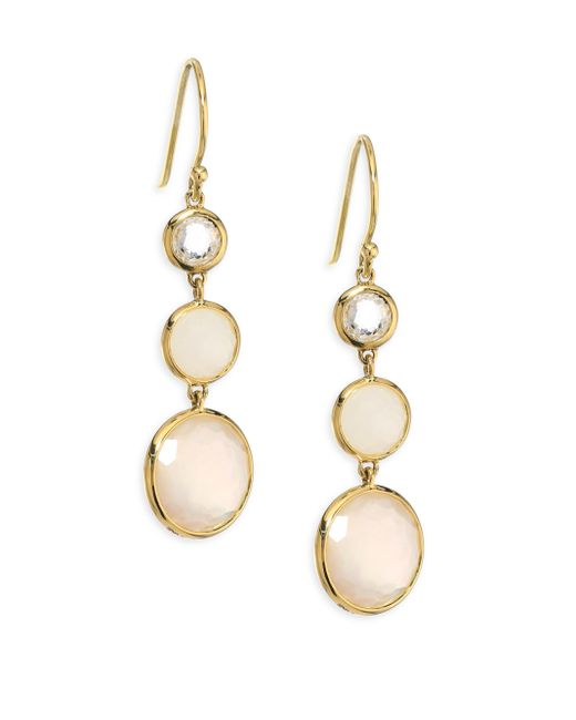 Ippolita | Metallic Lollipop? Mother-of-pearl & Moonstone Drop Earrings | Lyst