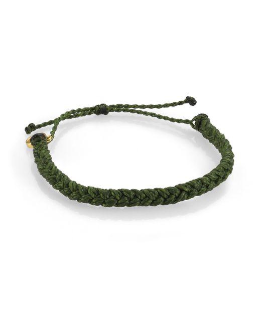 Pura Vida | Green Braided Bracelet | Lyst