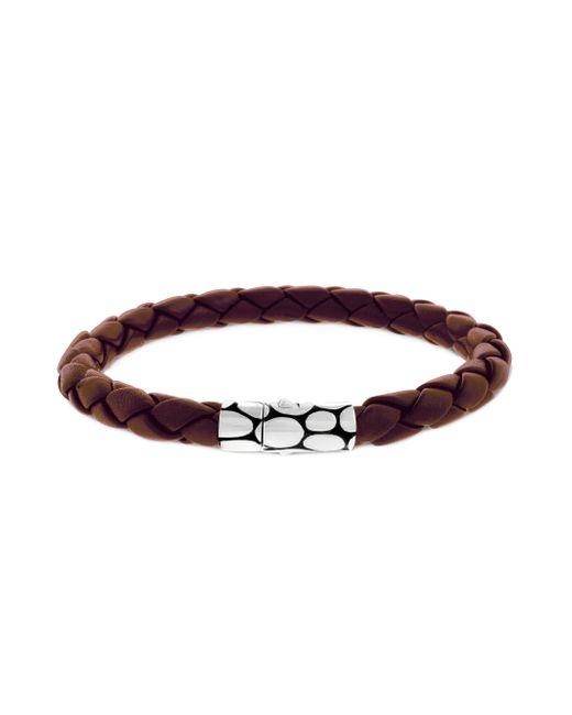 John Hardy | Brown Woven Leather Bracelet for Men | Lyst