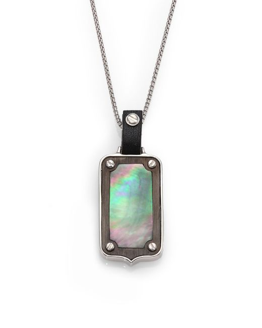 Stephen Webster | Metallic Plated Sterling Silver & Mother-of-pearl Dog Tag Pendant | Lyst