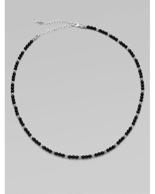 John Hardy   Black Sterling Silver Necklace/onyx   Lyst