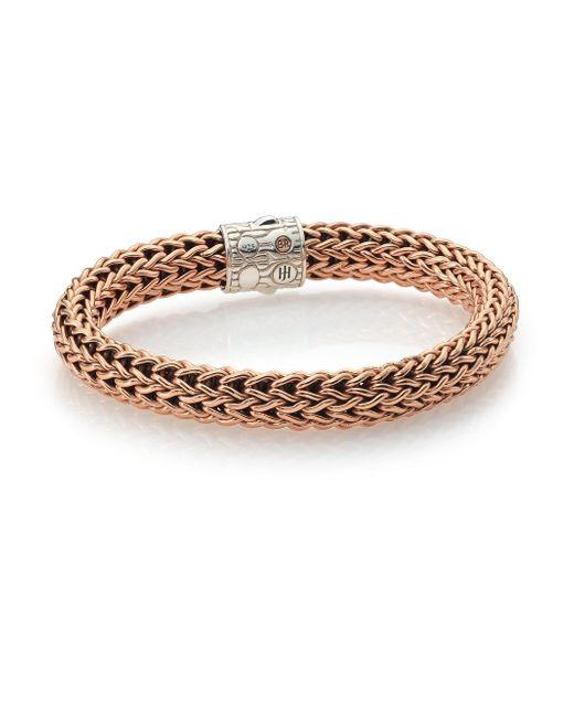 John Hardy | Metallic Classic Chain Bronze & Sterling Silver Bracelet for Men | Lyst