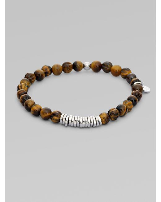Tateossian | Black Silver Discs Bracelet | Lyst