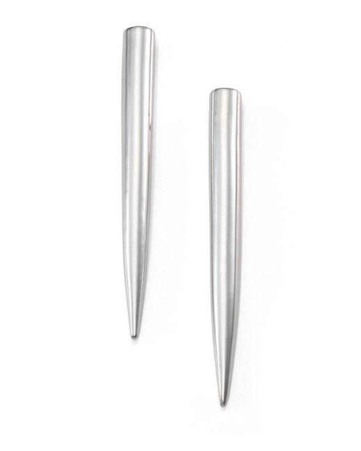 Eddie Borgo | Metallic Long Spike Earrings/silvertone | Lyst