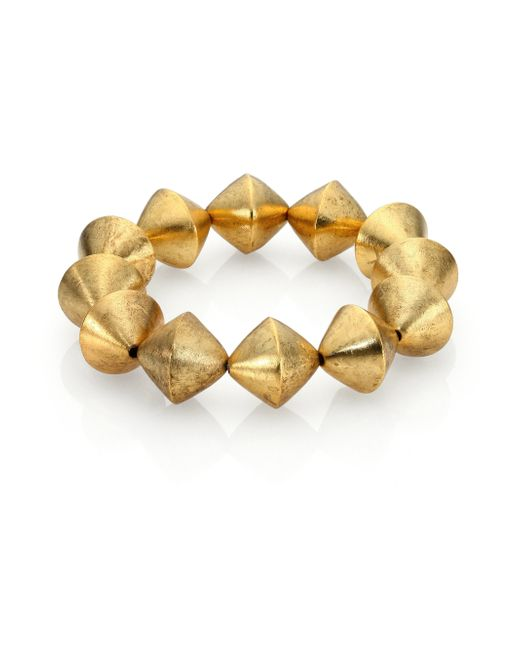 Nest | Metallic Beaded Stretch Bracelet | Lyst