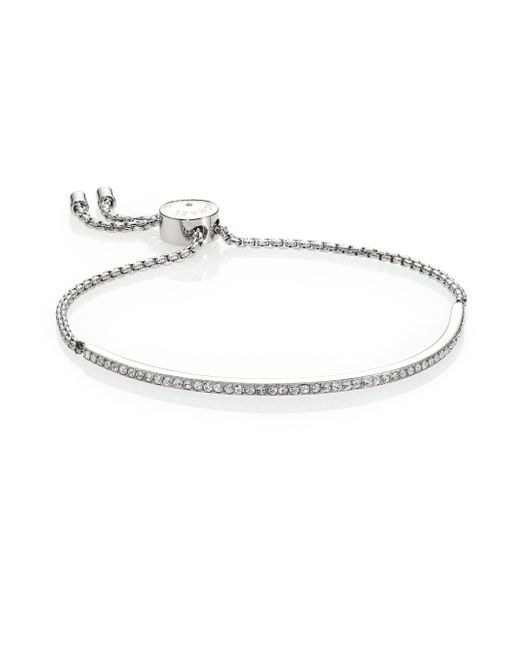 Michael Kors | Metallic Pave Slider Bracelet | Lyst