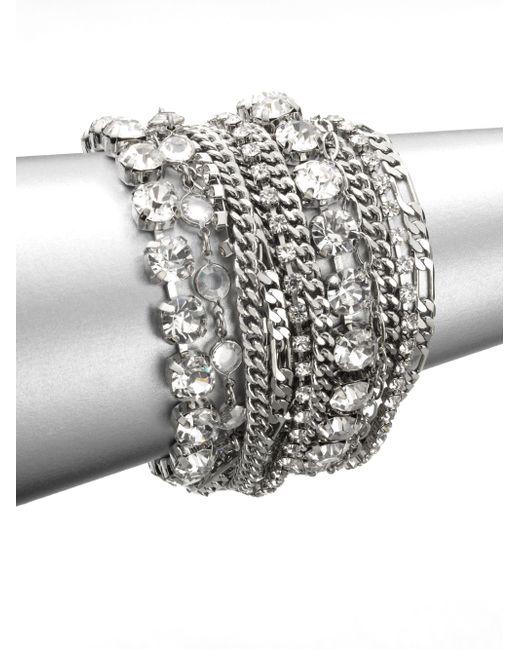 ABS By Allen Schwartz   Metallic Multi-row Link Chain Bracelet   Lyst