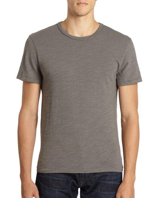 Rag & Bone | Gray Standard Issue Basic Tee for Men | Lyst