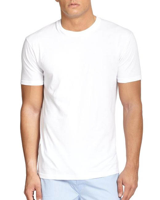 Saks Fifth Avenue | White Crewneck Tee, 3-pack for Men | Lyst