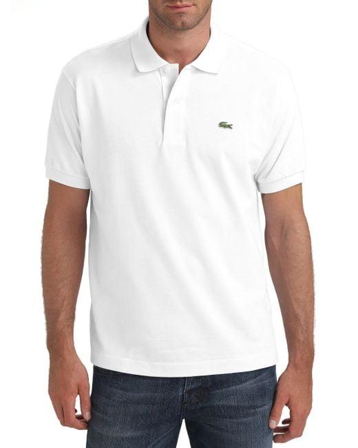 Lacoste | White Pique Polo for Men | Lyst