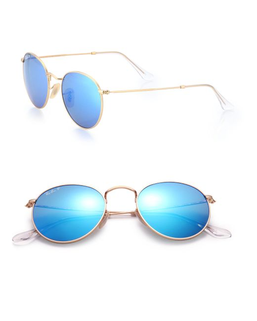 Ray-Ban | Blue Phantos 50mm Aviator Sunglasses for Men | Lyst