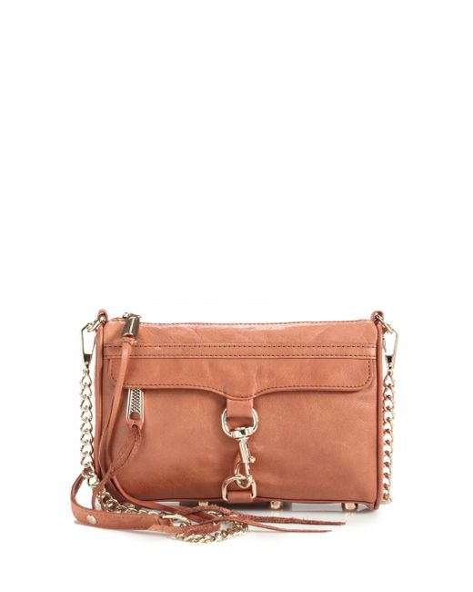 Rebecca Minkoff   Brown Mini Mac Convertible Crossbody Bag   Lyst