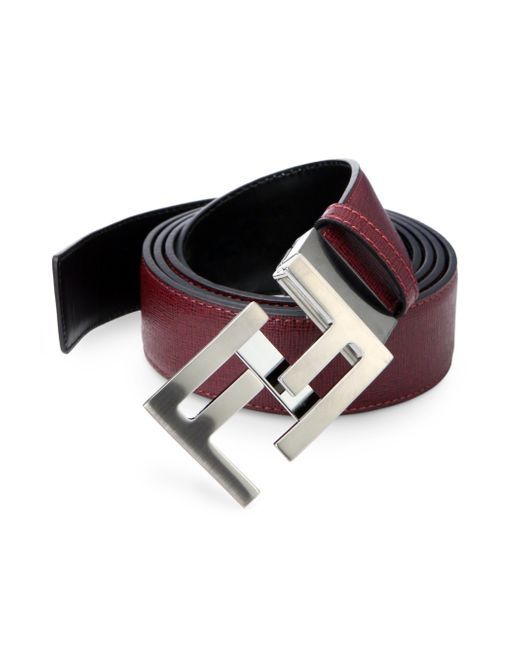 Fendi | Red Reversible Skinny Belt | Lyst