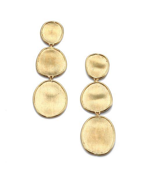 Marco Bicego | Metallic Lunaria 18k Yellow Gold Triple-drop Earrings | Lyst