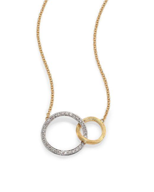 Marco Bicego | Metallic Jaipur Link Diamond, 18k White & Yellow Gold Necklace | Lyst