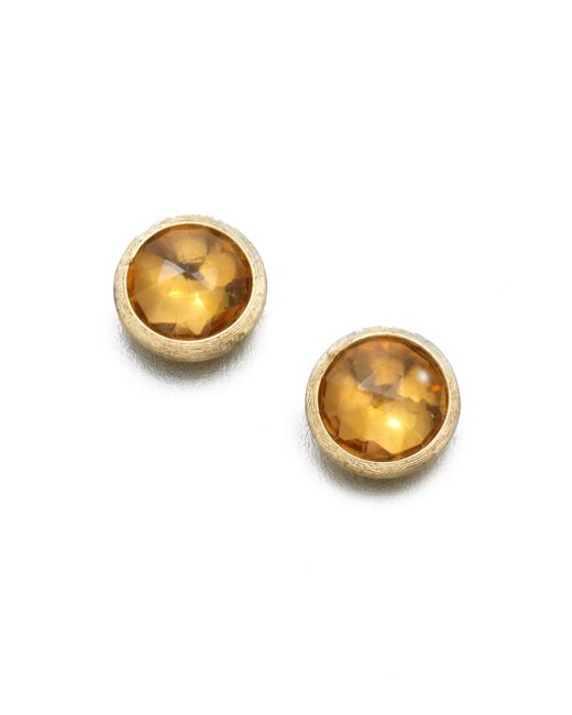 Marco Bicego | Metallic Jaipur Citrine & 18k Yellow Gold Stud Earrings | Lyst
