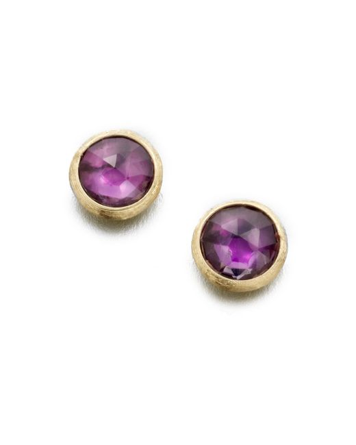 Marco Bicego   Purple Jaipur Amethyst & 18k Yellow Gold Stud Earrings   Lyst