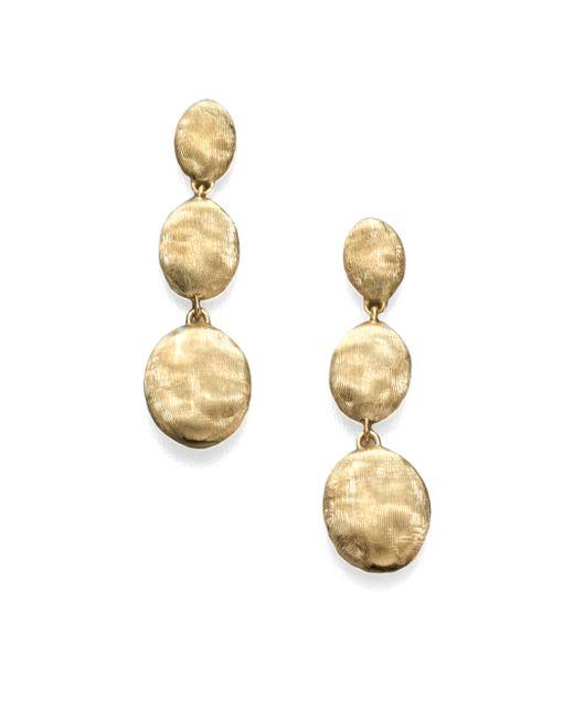 Marco Bicego | Metallic Siviglia 18k Yellow Gold Triple-drop Earrings | Lyst