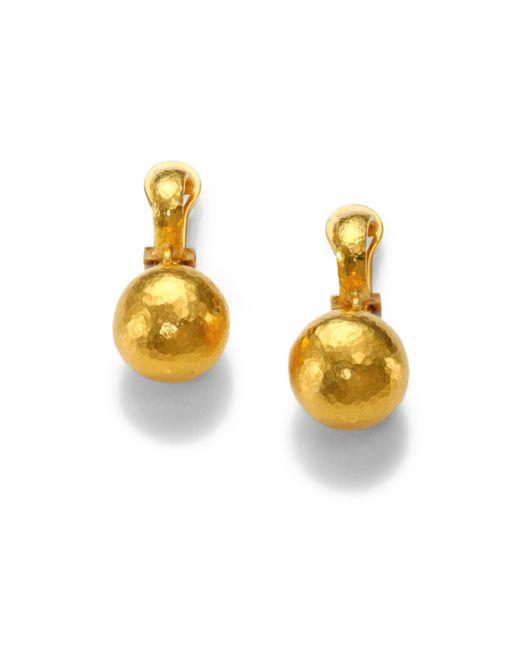 Gurhan | Metallic 24k Yellow Gold Ball Drop Earrings | Lyst