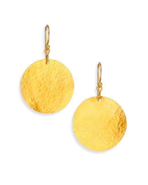 Gurhan | Metallic Lush 24k Yellow Gold Dangling Flake Drop Earrings | Lyst