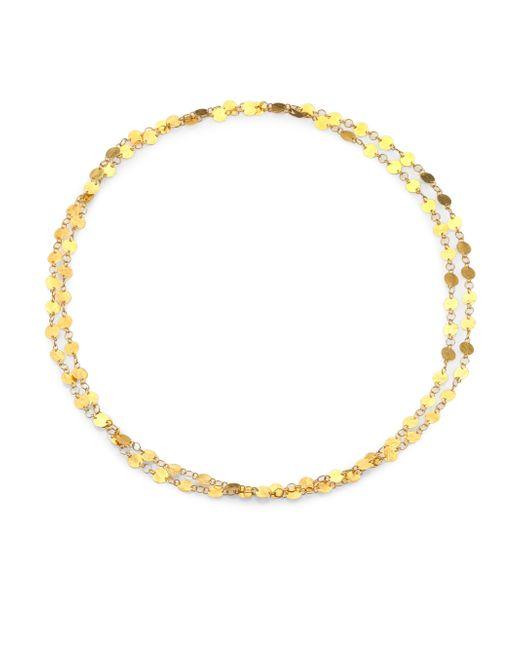 Gurhan | Metallic Lush 24k Yellow Gold Long Flake Necklace | Lyst