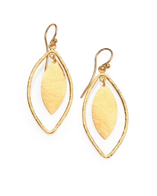 Gurhan | Metallic Willow 24k Yellow Gold Leaf Drop Earrings | Lyst