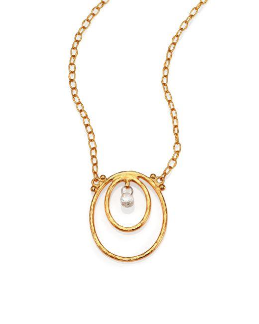 Gurhan   Metallic Hoopla Diamond & 24k Yellow Gold Pendant Necklace   Lyst