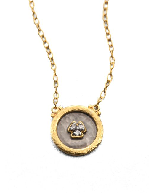 Gurhan | Metallic Imperial Diamond, 24k Yellow Gold & Sterling Silver Pendant Necklace | Lyst