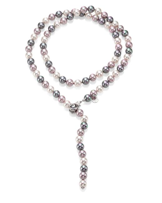 Majorica | Metallic 10mm Multicolor Round Pearl & Sterling Silver Strand Necklace/35 | Lyst