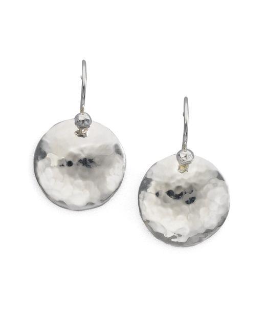 Ippolita | Metallic Glamazon Diamond & Sterling Silver Dome Disc Drop Earrings | Lyst
