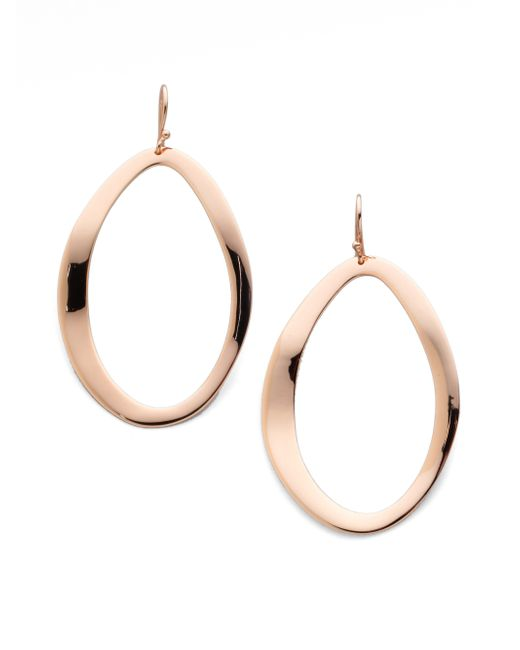 Ippolita | Pink Rose Carino Open Wavy Oval Drop Earrings | Lyst