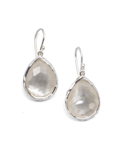 Ippolita | Metallic Wonderland Mother-of-pearl, Clear Quartz & Sterling Silver Mini Doublet Teardrop Earrings | Lyst