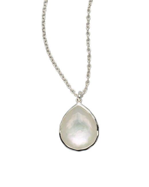 Ippolita | Metallic Wonderland Mother-of-pearl, Clear Quartz & Sterling Silver Mini Teadrop Doublet Pendant Necklace | Lyst