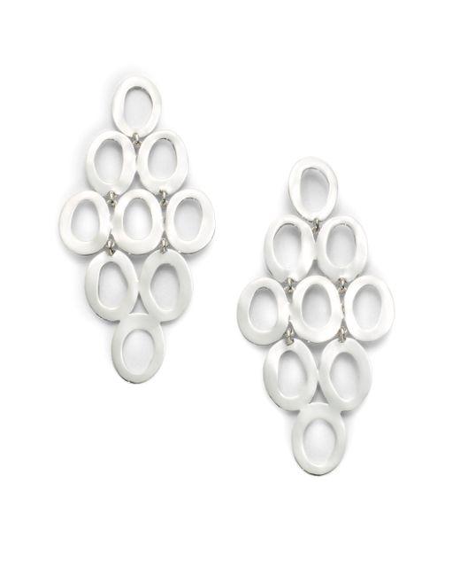 Ippolita | Metallic Glamazon Sterling Silver Open Oval Cascade Earrings | Lyst