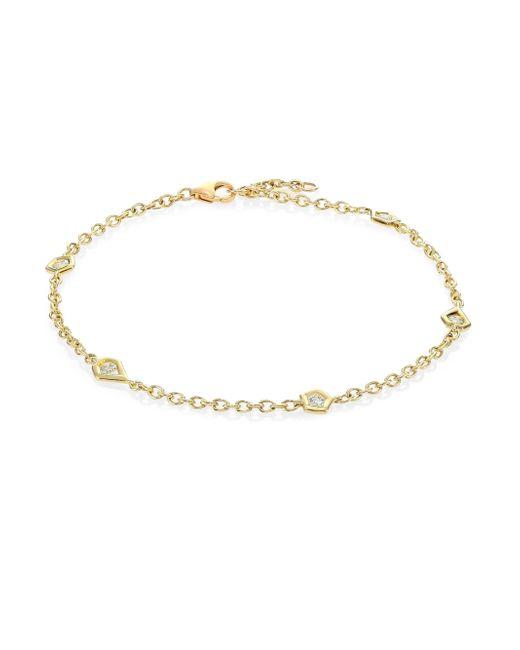 Ron Hami | Metallic Rain Diamond & 18k Yellow Gold Organic Station Bracelet | Lyst