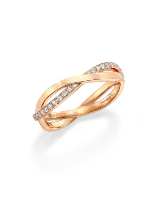 De Beers | Pink Infinity Diamond & 18k Rose Gold Half Band Ring | Lyst