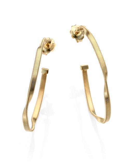 Marco Bicego | Metallic Marrakech 18k Yellow Gold Hoop Earrings/2 | Lyst