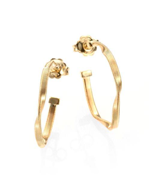 Marco Bicego | Metallic Marrakech 18k Yellow Gold Twisted Hoop Earrings/1 | Lyst