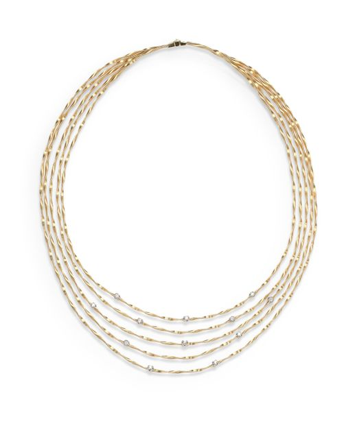 Marco Bicego | Metallic Mini Marrakech Diamond & 18k Yellow Gold Multi-row Necklace | Lyst