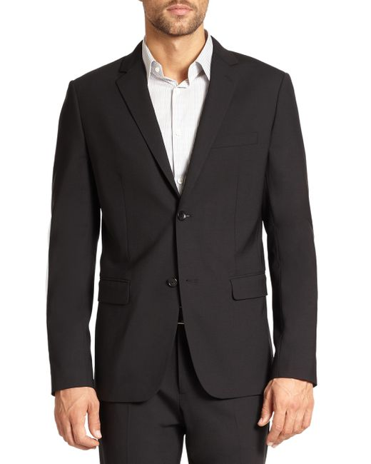 Theory | Black Wellar Stretch Wool Blazer for Men | Lyst