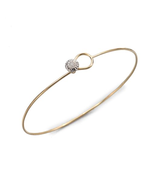 Phillips House | Metallic Love Always Diamond & 14k Yellow Gold Wire Bangle Bracelet | Lyst