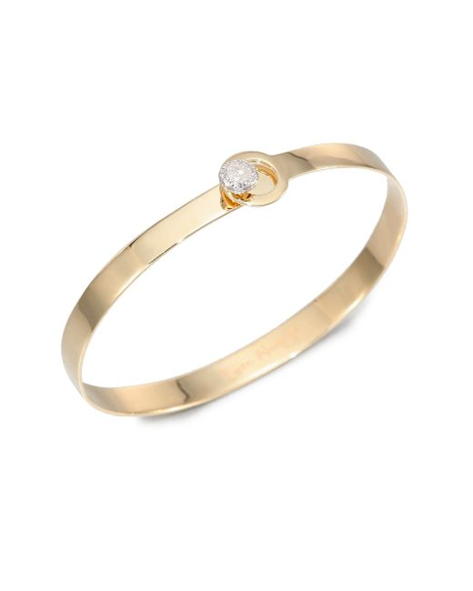 Phillips House | Metallic Love Always Diamond & 14k Yellow Gold Bangle Bracelet | Lyst