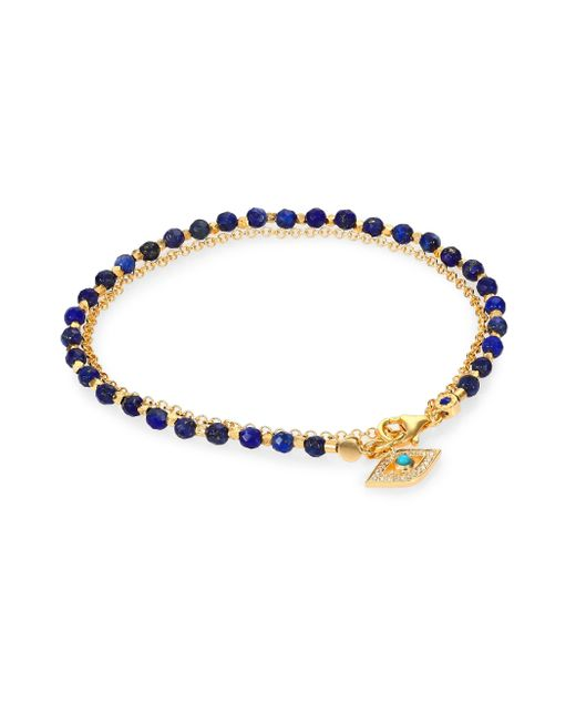 Astley Clarke | Metallic Biography Lapis, Turquoise & Diamond Evil Eye Beaded Friendship Bracelet | Lyst